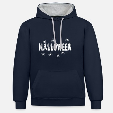 HALLOWEEN SPIDER - Contrast Colour Hoodie