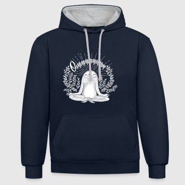 Chant Sloth meditates in nature and chanted Om Zen - Contrast Colour Hoodie