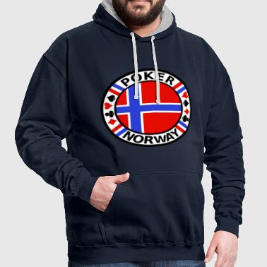 Poker Norway - Contrast Colour Hoodie