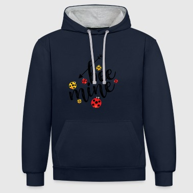 be my bee - Contrast Colour Hoodie