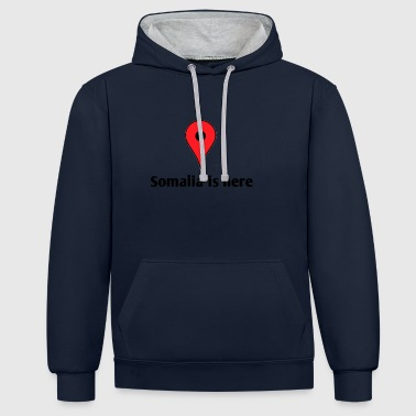 Somalia is here - Contrast Colour Hoodie