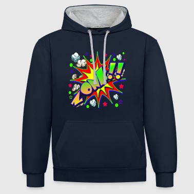 Comic Book ZONK - Contrast Colour Hoodie