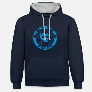 New Age NEW AGE VIKING Blue - Contrast Colour Hoodie