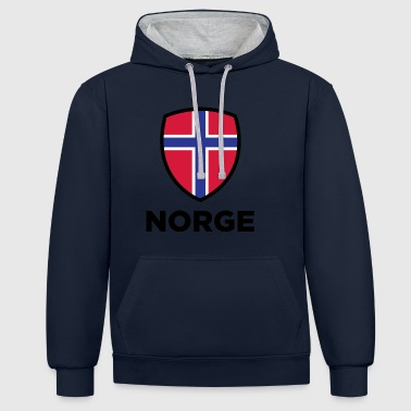 Norway 261 norway national flag - Contrast Colour Hoodie