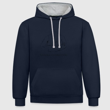Breastfeeding - the most natural connection - Contrast Colour Hoodie