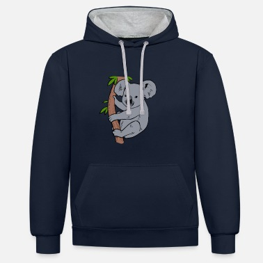 Koala Koala Bear Eucalyptus Arbre Don totalement Koalafied - Sweat-shirt contraste