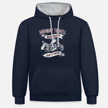 Highway To Hell Highway to Hell Motorrad - Kontrast-Hoodie