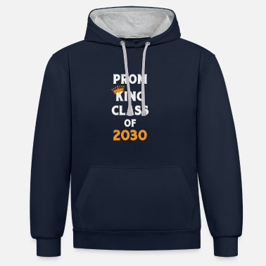 Prom Prom King Class of 2030 Future Graduates - Contrast Colour Hoodie