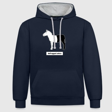 Informaticien Calculatrice sur ordinateur Humour Zebra Defrag - Sweat-shirt contraste