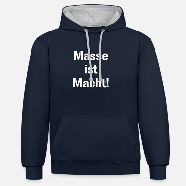 Masse est puissance powerlifting bodybuilding weightli - Sweat-shirt contraste