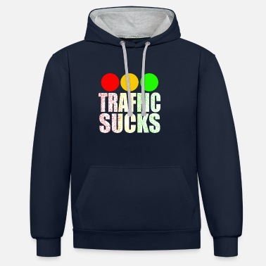 Traffic Traffic sucks - Contrast Colour Hoodie