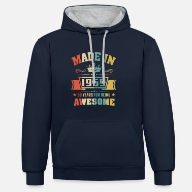 Awesome Made In 1969 50 Years Of Being Awesome - Unisex Contrast Hoodie