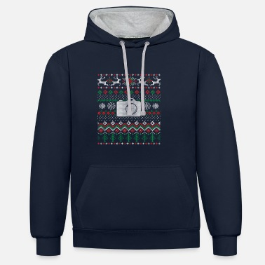 Camera Christmas for photographers - gift - Contrast Colour Hoodie