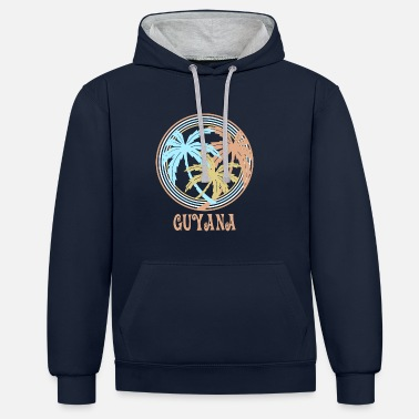 Guyana In Guyana it is the most beautiful! - Contrast Colour Hoodie