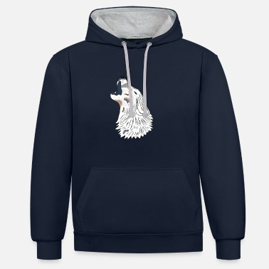 Loup hurlant - Sweat-shirt contraste