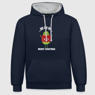 CHRISTMAS AVOCADO - Contrast Colour Hoodie