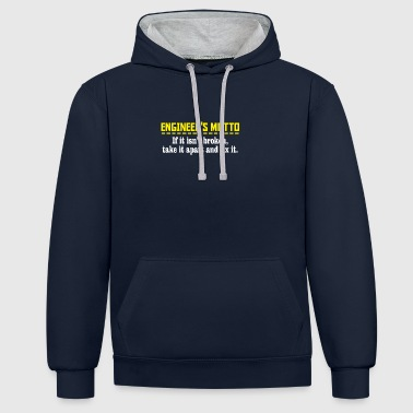 engineers motto - Contrast Colour Hoodie