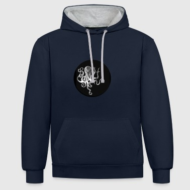 noir OCTOPUS - Sweat-shirt contraste