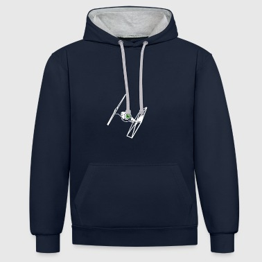 Fighter Tie Fighter - Meer Fighter - Contrast hoodie