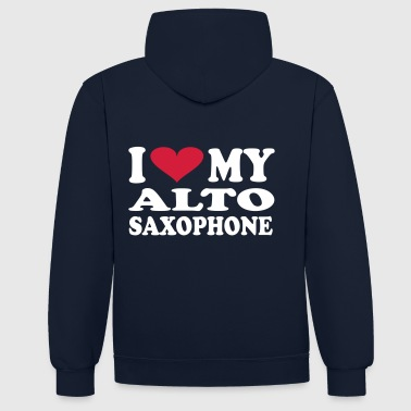 I Love My Alto Saxophone - Sweat-shirt contraste