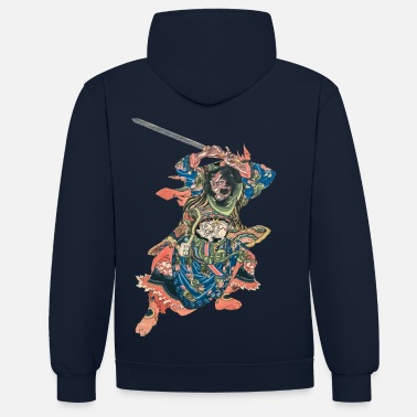 Warrior Chinese Warrior - Contrast Colour Hoodie