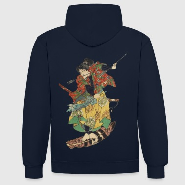 Flying Samurai - Contrast Colour Hoodie