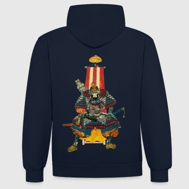 Japon Samurai General 2 - Sweat-shirt contraste