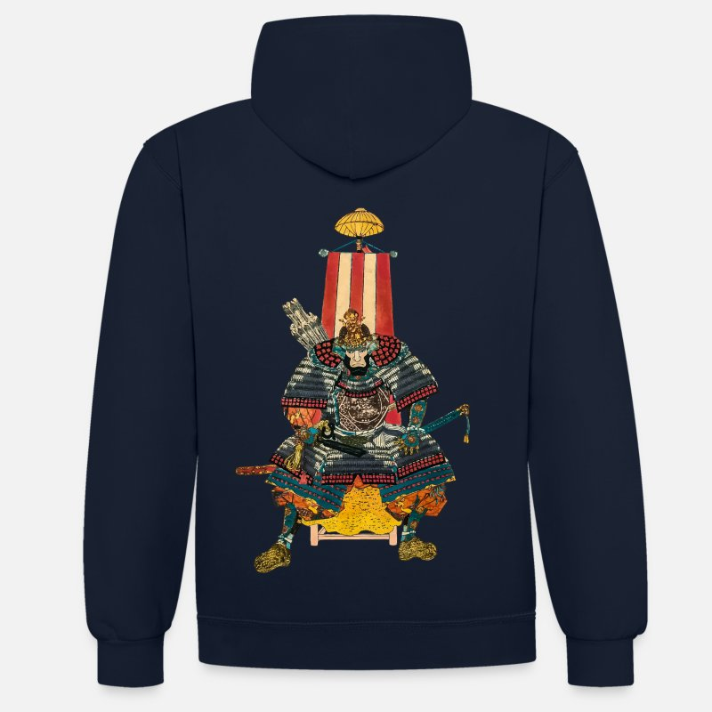 Bestsellers Q4 2018 Hoodies & Sweatshirts - Samurai General 2 - Unisex Contrast Hoodie navy/heather grey