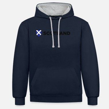 Scotland National Flag Of Scotland - Unisex Contrast Hoodie
