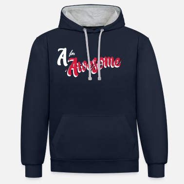 Awesome A for Awesome - Unisex Contrast Hoodie