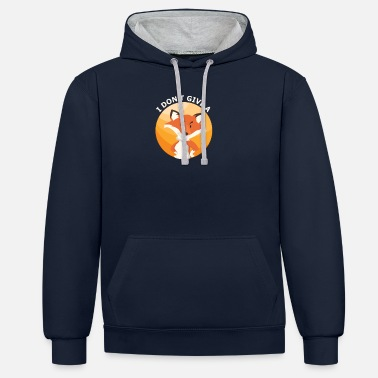 Crash Zero Fox Given - I do not care about pun - Unisex Contrast Hoodie
