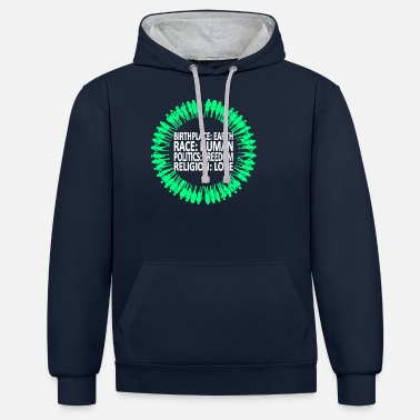 Religion Against racism (English shirt) - Unisex Contrast Hoodie