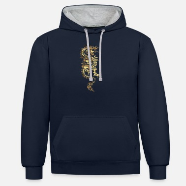 Asian Asian Dragon - Unisex Contrast Hoodie