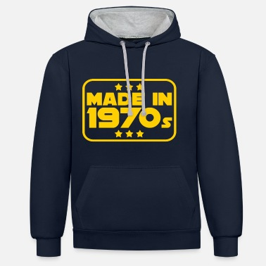 Made in 1970 1970 Born birthday - Unisex Contrast Hoodie