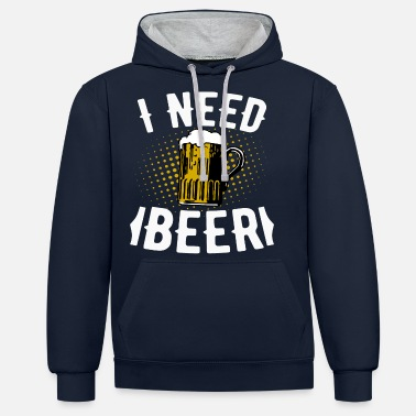 Beer drinker saying gift - Unisex Contrast Hoodie