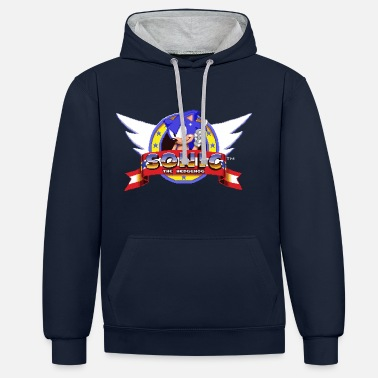 Sonic The Hedgehog Retro Logo - Unisex Hoodie zweifarbig