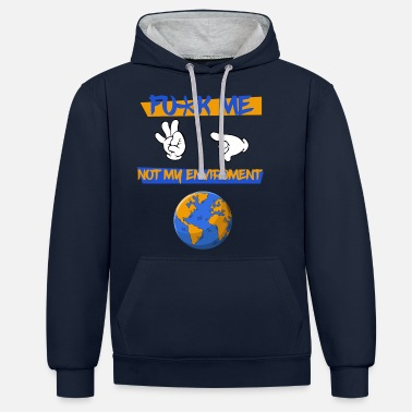 Protection Environment protection world earth - Unisex Contrast Hoodie