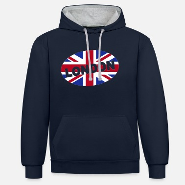 Glamour London City Great Britain - eushirt.com - Unisex Contrast Hoodie