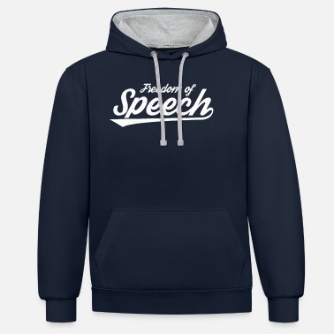 Freedom Of Expression Freedom of speech Freedom of expression Journalist - Unisex Contrast Hoodie