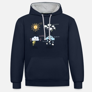 Weather Weather Kawaii - Unisex Contrast Hoodie