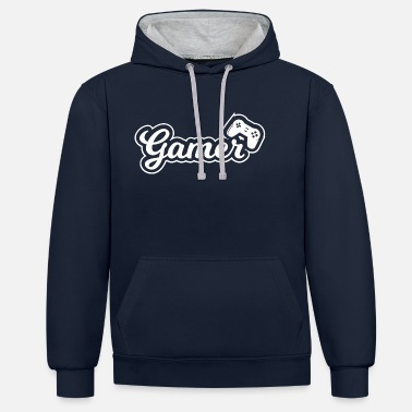 Game Over Gamer gaming esports - Unisex contrast hoodie