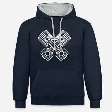 Tuning Tuning auto grappige tuner - Unisex contrast hoodie