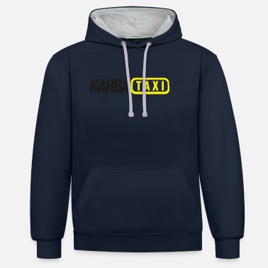 Fake Kahba Taxi zoals Fake Taxi - Unisex contrast hoodie