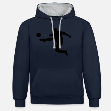 Cool football theme - Unisex Contrast Hoodie