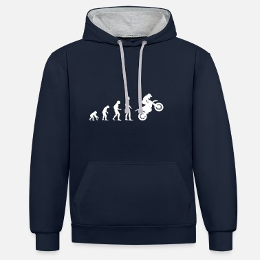 Evolution motorbike motorcycle evolution - Unisex Contrast Hoodie