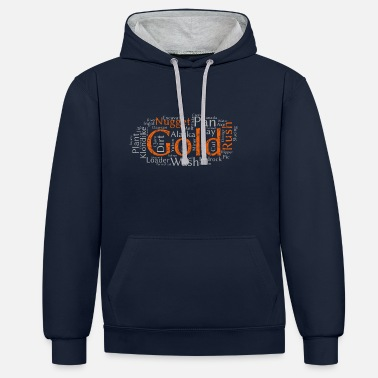 Gold Gold Rush - Gold Rush Adventure in the Yukon Nugget - Unisex Contrast Hoodie