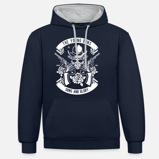 Weapon Hoodies & Sweatshirts - weapons - Unisex Contrast Hoodie navy/heather grey