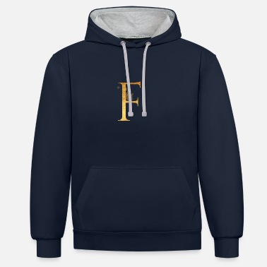 Initial Initial letter F - Unisex Contrast Hoodie
