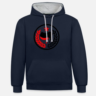 Red Star ANTIFA FLAG RED STAR COMMUNIST ANTIFASCHIST - Unisex Contrast Hoodie