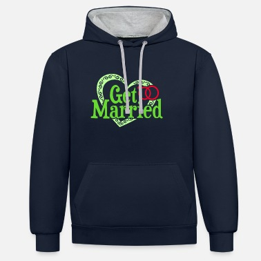 Get Married Getting Married - Unisex Contrast Hoodie